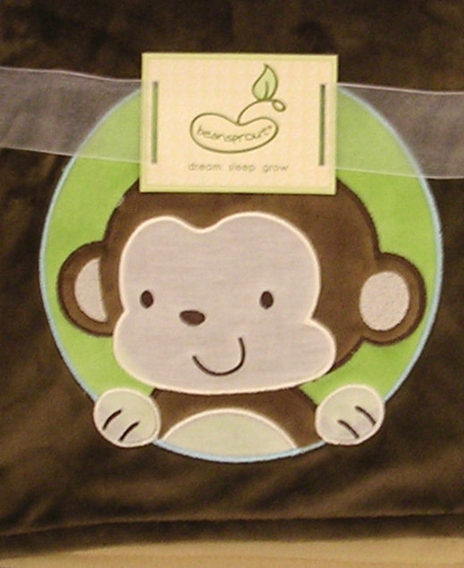 Pem America Bedding by Pem America 2 Ply Blanket Crib Throw Brown Monkey at Sears.com