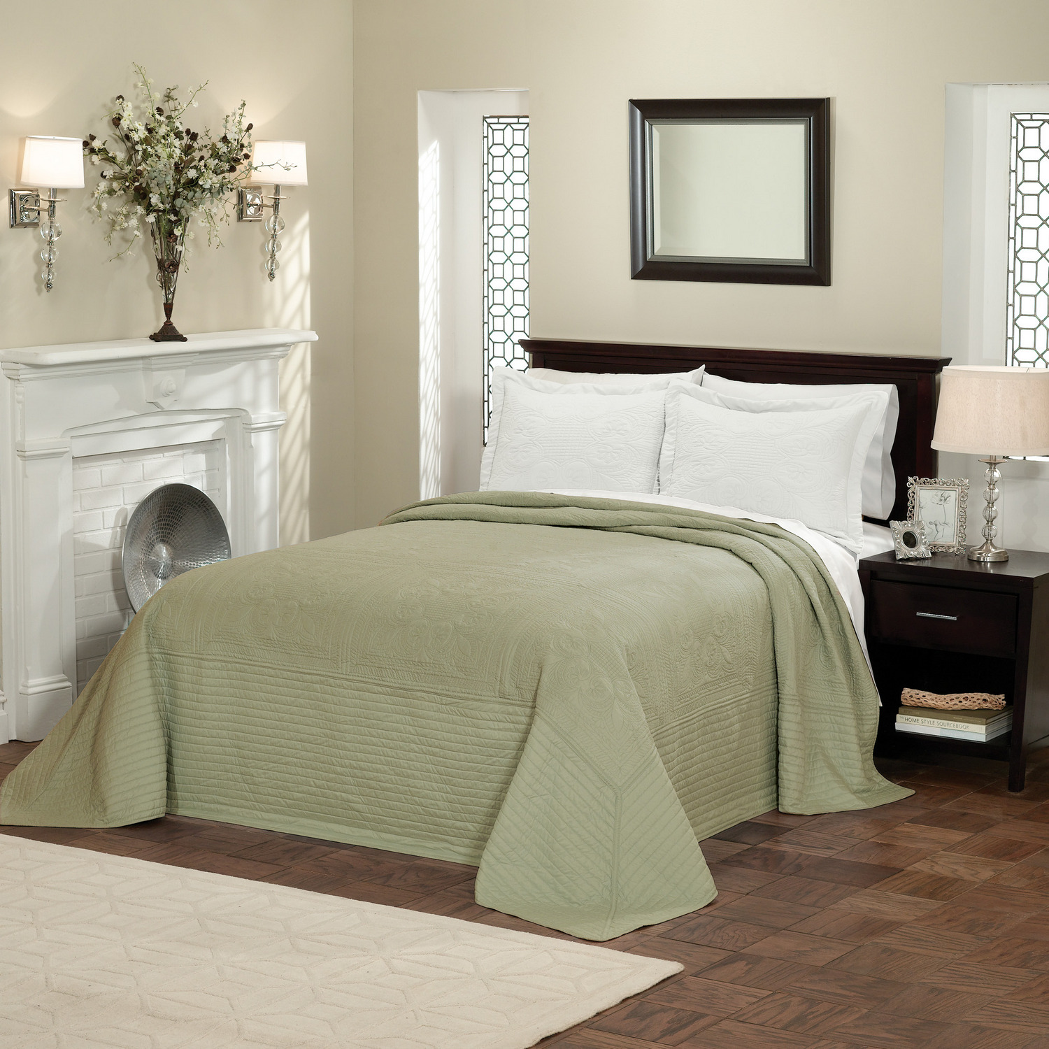 Pem America Bedding by Pem America French Tile Queen Bedspread Sage at Sears.com
